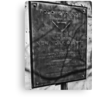 Site of the Polo  Grounds' Home Plate - New York, New York Canvas Print