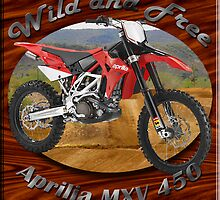 Aprilia MXV 450 Poster by hotcarshirts