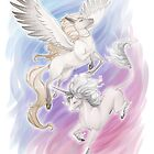 Unicorn and Pegasus by kinky-chichi