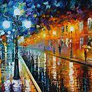 BLUE LIGHTS - LEONID AFREMOV by Leonid  Afremov