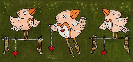 Soxy Birds by Anita Inverarity
