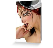 Burlesque Doll Greeting Card