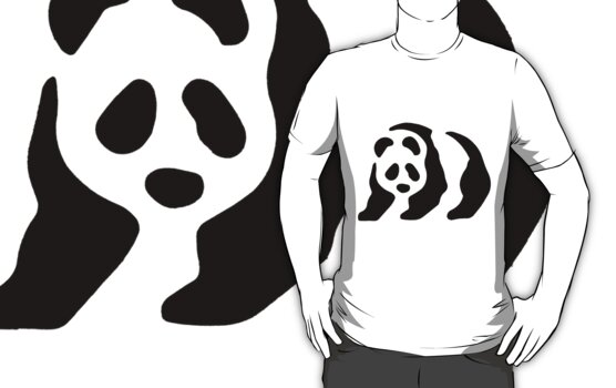 Panda stencil by redcow