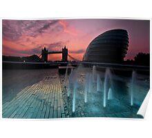 Southbank Sunrise: Tower Bridge & City Hall Poster