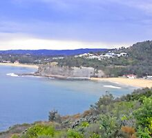 bilgola beach by Floralynne