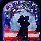 The Arch of love #3  (darker version), watercolor by Anna  Lewis
