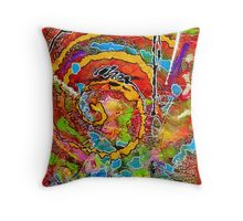 Red Wine and Jazz on a Snowy Night Throw Pillow
