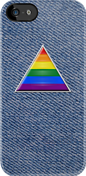 Pride Triangle on Denim by x-pressions