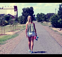 Walking on The Road by Nic3ky