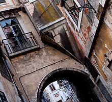 Alley at Alfama by Petteri Sopanen