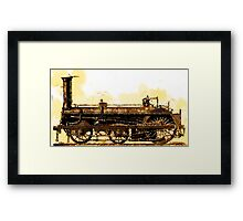 A Crampton Steam Locomotive 1846 Framed Print