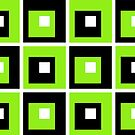 Retro Cubed Black and Lime by Anthony  Poynton