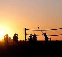 Sunset Volleyball by Sigtor Kildal