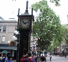 Steam Operated Clock, Vancouver, B.C. by Tom Kerns
