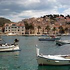 Afternoon Light on Hvar Island Harbor by Jillian Rubman