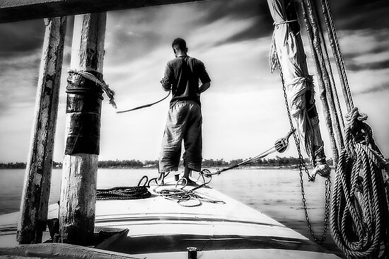 Sailing on The Nile by Erik Brede