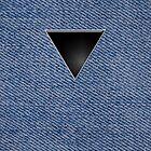 Black Triangle on Denim by x-pressions