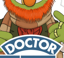 'Doctor Teeth' (The Muppets / Doctor Who - VERSION #2) Sticker