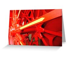 Red Gears On The Avery Greeting Card