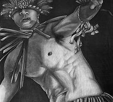 Jipwuki Paranno War Dancer - Mwoakilloa, Micronesia by Yvonne C. Neth