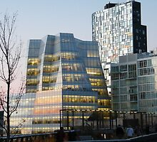High Line View, Frank Gehry Building, New York by lenspiro