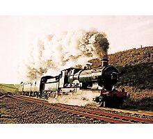 Steam Train in Landscape Photographic Print