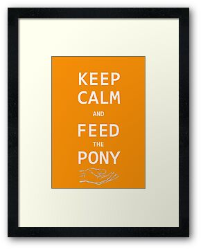 Keep Calm And Feed The Pony  by Jack  Castle