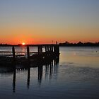 The Harbour From Bosham Sailing Club at Sunset #1 by Matthew Floyd
