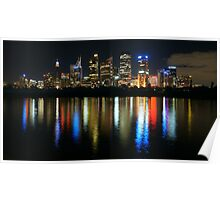 Sydney CBD at Night Poster