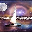 Moonlight sailing  by Dawn M. Becker
