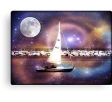 Moonlight sailing © Canvas Print