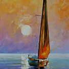 GOLD SAIL - LEONID AFREMOV by Leonid  Afremov