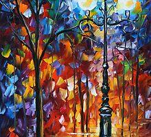 LIGHT IN THE ALLEY - LEONID AFREMOV by Leonid  Afremov