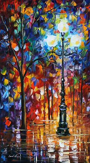 LIGHT IN THE ALLEY - LEONID AFREMOV by Leonid  Afremov