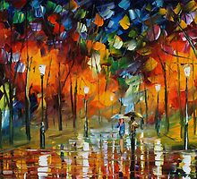 THE SCENT OF THE RAIN - LEONID AFREMOV by Leonid  Afremov