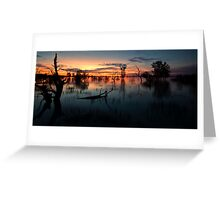 End of the Day - Menindee NSW Greeting Card