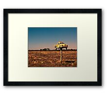 It Pays to Advertise - Pooncarie NSW Framed Print