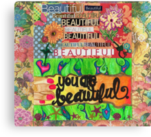 Beauty Blossoms From Within Canvas Print