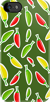 Red Peppers Pattern by kotopes