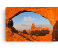 Turret Arch through the North Window, Arches National Park Canvas Print