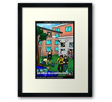 Another Day @ Accidental College by Londons Times Cartoons Framed Print