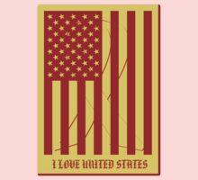 United States Flag Vintage T-shirt Kids Clothes