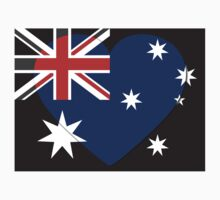 Australia Flag T-shirt by Nhan Ngo