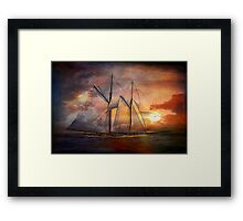 Singing sails...... Framed Print