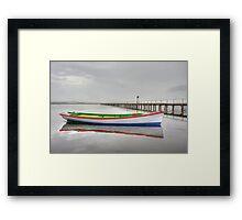 Long Jetty boat Framed Print