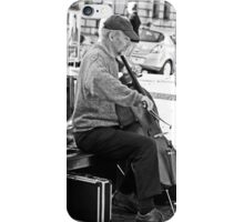 The Cellist on the bench........... iPhone Case/Skin