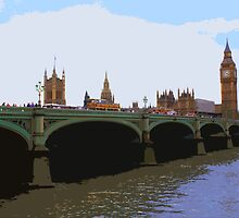 Westminster bridge, London by cycreation