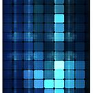 Blue squares by Ommik