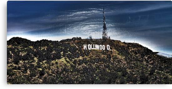 Hollywood Sign Wrapped  by MJ Gardner
