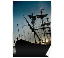 Morning in the harbour Poster